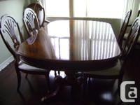 Beautiful solid wood dining table and chairs Table