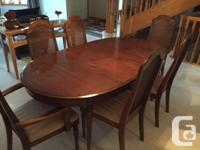 7 piece Dining set - 6 chairs and oval table (extends