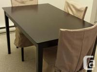 Dining table with 4 chairs Excellent condition Great