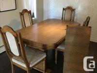 Solid wood table Table leaf 6 chairs Sad that I need to