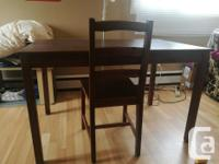 All are in good condition, solid, one dining table with