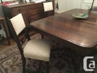 MUST SELL SOON. Make us an offer! Solid wood table 60""