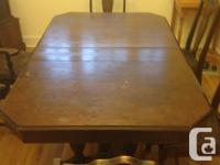 Dining table for sale. Surface needs tlc but it is very