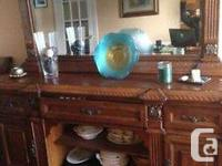 Real wood living room dinning room dresser.It has a big