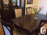 Dinning Room 9 piece set (has an expansion leaf as