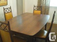 dinning set 4 chairs. Chairs are real wood -60 X42