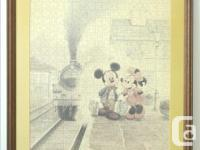 Disney Mickey & Minnie Mouse Framed Jigsaw Puzzle Art -