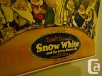 12 inches X 18 Inches Classic Snow White and the Seven