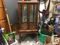 """Nice cabinet measures 15""""x26""""x60"""". It has 2 glass"""