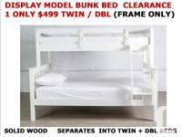 Don't miss this ! Solid wood Twin / Double bunk bed is