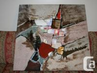 Distinct Abstract Art Canvas Painting Dimensions: 39 for sale  Ontario