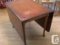 A stunning Drexel pine eating table in need of some