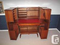 Antique Teak Desk. Excellent condition. Accommodates