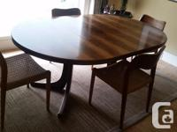 High quality table and chairs rosewood veneer on solid