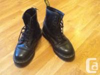 size 8 Black boots with yellow stitching AIr Wair with