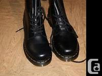 Doc Marten boots, size 9 US, less than a year old. They
