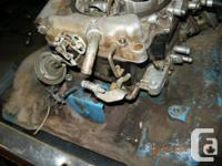!981 intake and carb 4 barrel ,carb isn't very old