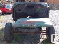Make Dodge Late 50s to early 1960s Dodge Panel Project