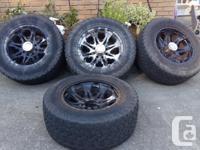 35x12.5xr20 tires, 50%. Wheels media blasted and powder