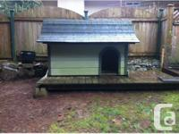 We have a beautiful, amazingly made dog house for sale.
