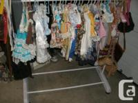 Large collection on Dolls Clothes, sizes vary from