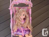 doll lil Mom 's,walk&talk , swiveling wheels,carriage