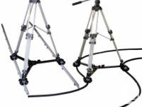System includes flex track, PVC track and tripod dolly