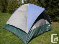 This Spalding dome outdoor tents functions well for two