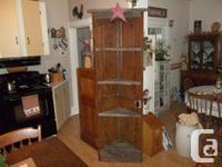"Old wood door edge cupboard 82""HX241/2""W. Edge cabinet"