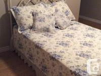 Double size box spring, mattress, frame, antique