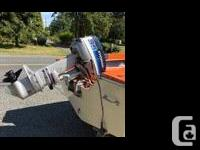 14� Double Eagle Motor Boat with Evinrude 35 Outboard &