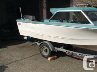 Boat, road runner trailer, 50 hp Nissan motor, garmin