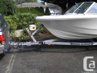 Sixteen and a half foot 1992 Double Eagle boat with a