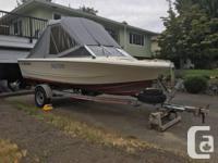16 1/2 foot Double Eagle fishing boat. 2004 90 horse
