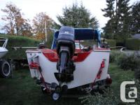 14 ft. Double Eagle, 40 hp. mercury, with clean bill of
