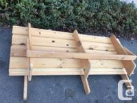 Pine queen or Double bed frame just add a mattress .