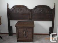 """--large 5 pc double/queen sized """"wooden"""" bedroom"""