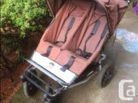 """Double stroller, """"Mountain Buggy"""" Urban. This was a"""
