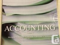 Selling 4 books. All great condition:  Accounting Vol.2