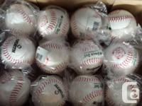 I have a few boxes of WORTH GREEN DOT 11 in. softballs.