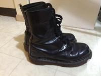 Black leather 10-hole Doc Martens Men's size 9