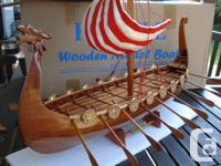 Drakkar Dragon Viking Wood Ship Design $135.00.