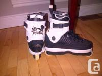 Almost like new Dre Powell 2 aggressive skates. No
