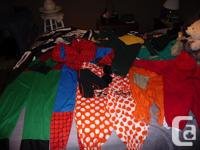 Dress Up Costume LOT: Robin, Size 7 (?) ($5), Spiderman