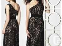 Dessy brand bridesmaid dress. Classy one shoulder,