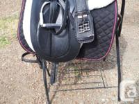 "Dressage saddle package, comes with 17"" Bates dressage"
