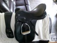 Kieffer dressage saddle (German made). Black. Medium