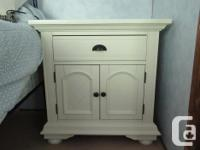"""White solid wood dresser (63"""" wide, 17 1/2 """" deep and"""