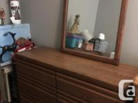 250-dress and mirror Dresser 50 inches wide 29.5 tall