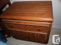 """Dresser measures or 1.75 (m 5' 7"""") long. End table is"""